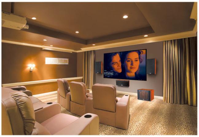 别墅私人影院7.1声道系统