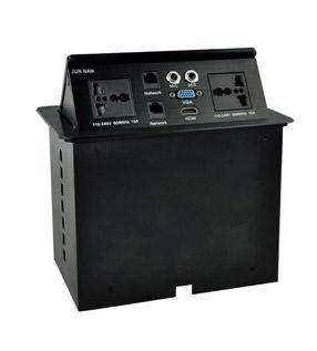 高档铝拉丝气撑桌面插座 JN-501